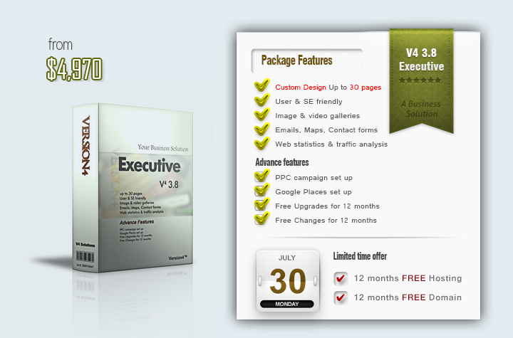 Website Design Package V4 3.8 Executive