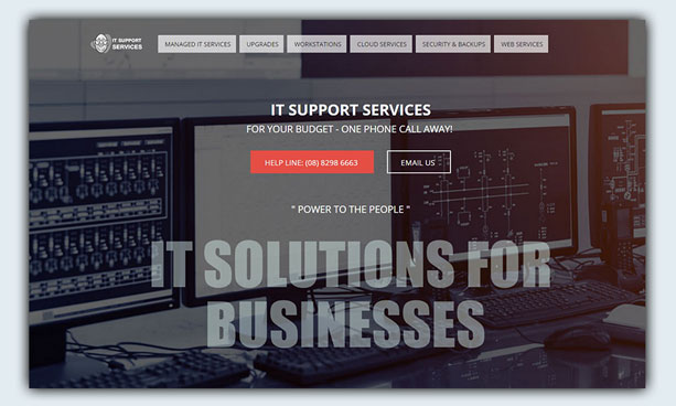 website design example - it-supportservices