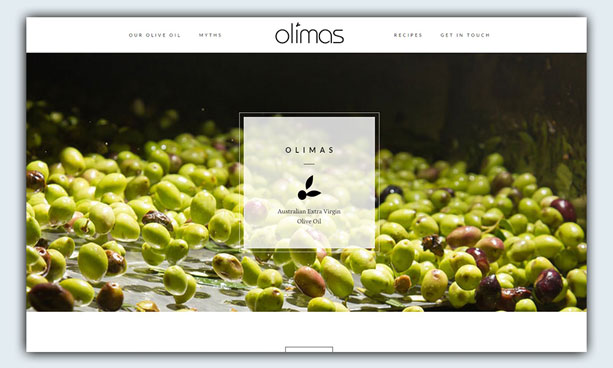website design example - olimas