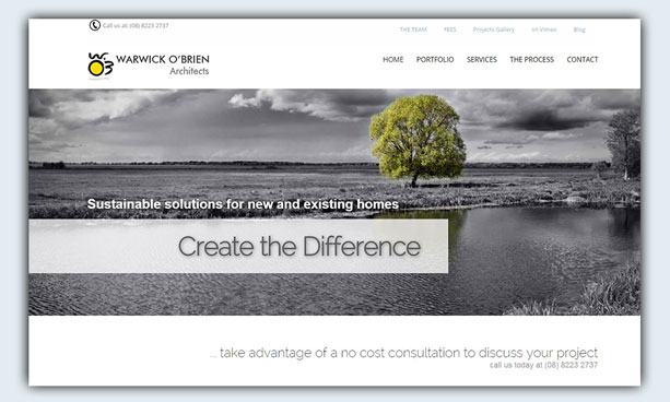 website design example - wobarchitects